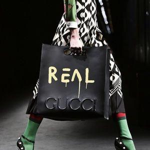 NWT Gucci ghost graffiti leather bag